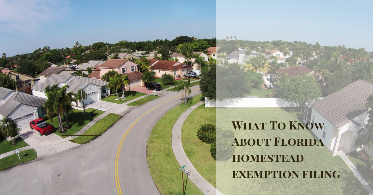 Florida Homestead Exemption Filing Explained: Save Money On Property Taxes In Florida